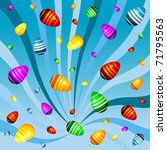 easter eggs abstract background | Shutterstock .eps vector #71795563