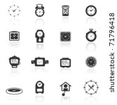 icon set  clocks | Shutterstock .eps vector #71796418
