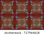 raster illustration. pattern... | Shutterstock . vector #717964618