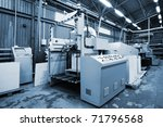 the equipment for a print in a... | Shutterstock . vector #71796568