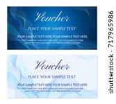 voucher  gift certificate ... | Shutterstock .eps vector #717965986
