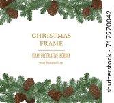 merry christmas border  new... | Shutterstock .eps vector #717970042
