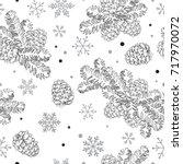 seamless pattern christmas tree ... | Shutterstock .eps vector #717970072