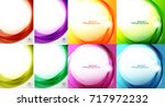 swirl and wave background set....   Shutterstock .eps vector #717972232