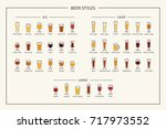 beer styles guide  colored... | Shutterstock .eps vector #717973552