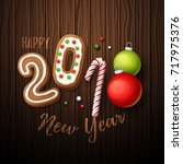 happy new year 2018 background. ... | Shutterstock .eps vector #717975376