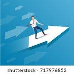 businessman on arrow icon  ... | Shutterstock .eps vector #717976852