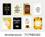 collection of gold texture... | Shutterstock .eps vector #717980182