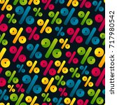 vector seamless pattern with...   Shutterstock .eps vector #717980542