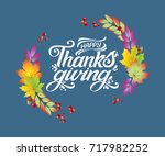 happy thanksgiving beautiful... | Shutterstock .eps vector #717982252