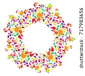 vector illustration of colorful ... | Shutterstock .eps vector #717983656