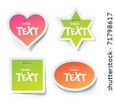 vector sticker for text | Shutterstock .eps vector #71798617