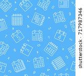 calender symbols seamless... | Shutterstock .eps vector #717987346