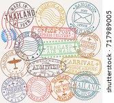 bangkok thailand stamp vector... | Shutterstock .eps vector #717989005