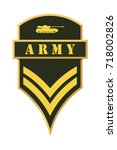 military ranks and insignia.... | Shutterstock .eps vector #718002826