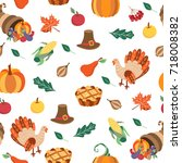 colorful seamless pattern with... | Shutterstock .eps vector #718008382