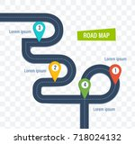 road map with colorful bright...   Shutterstock .eps vector #718024132