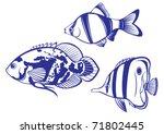 Tropical Fish. Set  2 Vector...