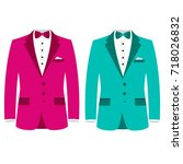 men's jacket. wedding men's... | Shutterstock .eps vector #718026832