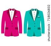 men's jacket. wedding men's... | Shutterstock .eps vector #718026832
