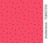 watermelon seeds tropical fruit ... | Shutterstock . vector #718027252