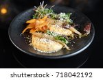a beautiful dish in the... | Shutterstock . vector #718042192