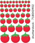 tomatoes vector pattern... | Shutterstock .eps vector #718043902