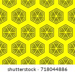 seamless modern vector...   Shutterstock .eps vector #718044886
