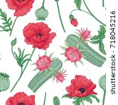 seamless pattern and ...   Shutterstock .eps vector #718045216