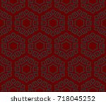 seamless modern vector...   Shutterstock .eps vector #718045252