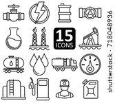 set of petrol icon vector. | Shutterstock .eps vector #718048936