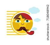 sun icon vector   Shutterstock .eps vector #718048942