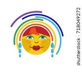 rainbow icon vector   Shutterstock .eps vector #718049272