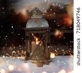Winter Decoration With Burning...