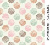 polka dot seamless pattern.... | Shutterstock .eps vector #718058368