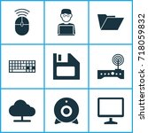 computer icons set. collection... | Shutterstock .eps vector #718059832