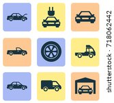 auto icons set. collection of... | Shutterstock .eps vector #718062442