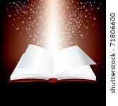 vector open red book with stars ... | Shutterstock .eps vector #71806600