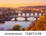 view to the historical bridges  ... | Shutterstock . vector #718072198