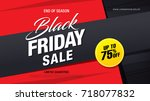 black friday sale banner layout | Shutterstock .eps vector #718077832