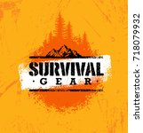 survival gear extreme outdoor... | Shutterstock .eps vector #718079932