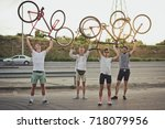 Group Of Cyclists Riding Fixed...