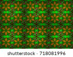 raster seamless colorful floral ...   Shutterstock . vector #718081996