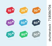 set of colorful sale badges  ... | Shutterstock .eps vector #718086706