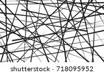 chaotic lines  abstract... | Shutterstock .eps vector #718095952
