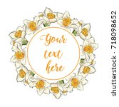 floral greeting card with...   Shutterstock .eps vector #718098652