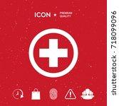 medical cross icon | Shutterstock .eps vector #718099096