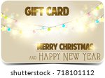 merry christmas and happy new... | Shutterstock . vector #718101112