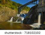 new croton dam at croton on...   Shutterstock . vector #718102102