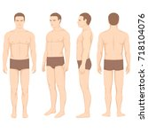 human body anatomy  vector man... | Shutterstock .eps vector #718104076